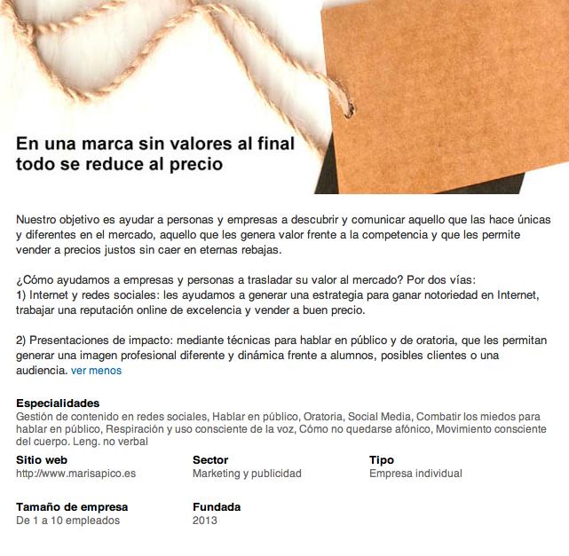 pagina-empresa-linkedin-marisa-pico